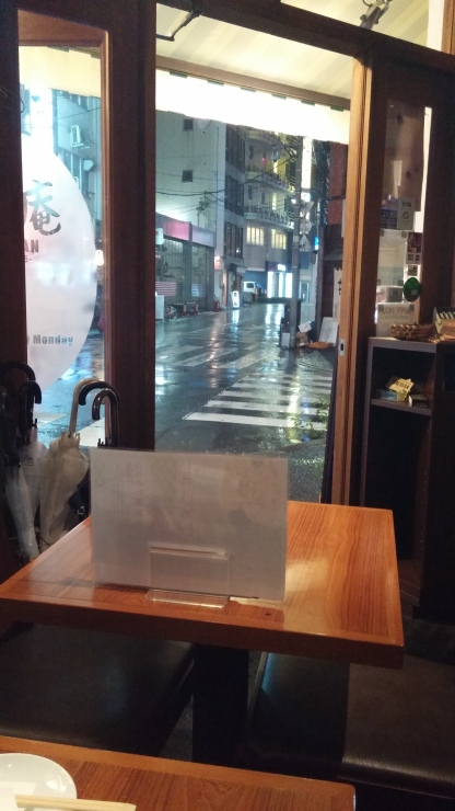 It was so lovely to sit, listen to the rain, and watch people pass by with their umbrellas. Thanks to some signage in the picture, I can now see that this resturaunt is called Tonerian.